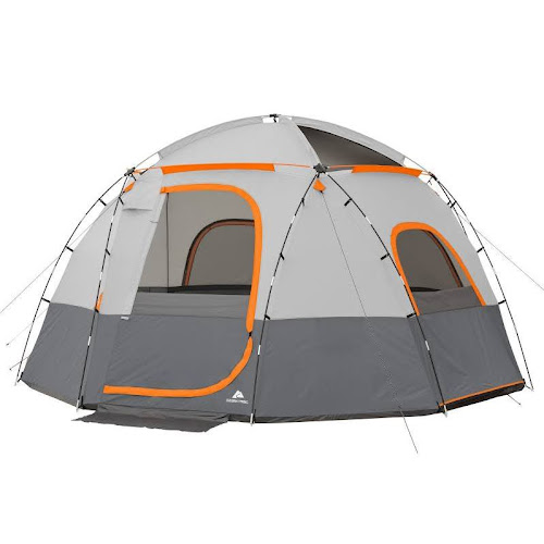 Ozark Trail 6 Person Sphere Tent With Rope Light Orange Google