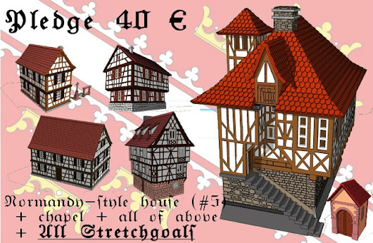 Kickstarter Watch - Printable Tabletop Terrain - Alsace - timbered buildings
