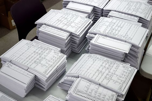 Blank Paper Election Ballots Filled Out By Teams Of Democrats In Foreign Countries To Create Election Fraud