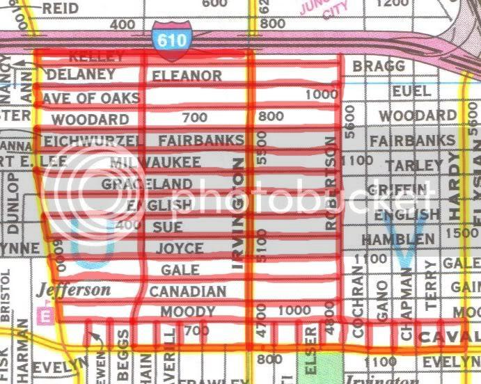 Lindale Park trip map