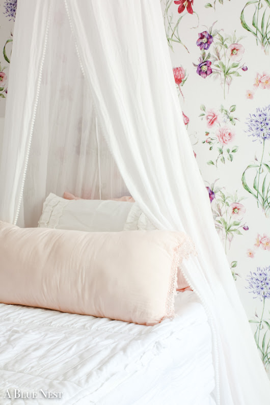Floral Wallpaper in a Girly Pink Room - A Blue Nest