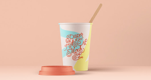 Psd Paper Hot Cup Template Vol4 | Psd Mock Up Templates | Pixeden