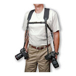 Op/Tech Dual Harness Two Cameras, Extra Large, Black 6501042