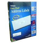 Avery Easy Peel White Address Labels for Laser and Inkjet Printers 1