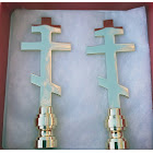 Art Finials - Orthodox Cross, Set of 2 - Religious Works of Art, for Your Lamps!