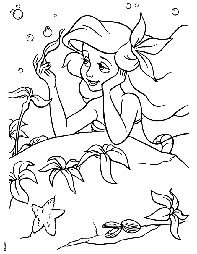 Coloring Pages Of Princess Ariel - Coloring And Drawing