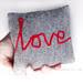 little love cushion in grey