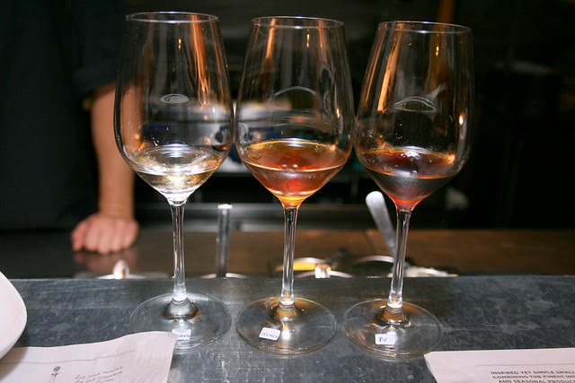 Three kinds of dessert wine