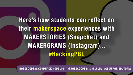 Makerspace Stories and Social Media: Leveraging the Learning #HackingPBL - Cooper on Curriculum