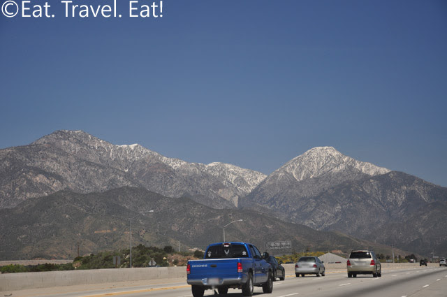 Mountains close to I-15