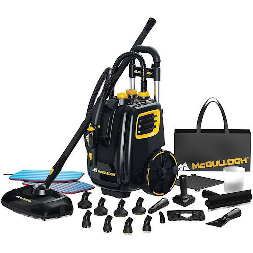 McCulloch Deluxe Canister Deep Clean Multi-Floor Steam Cleaner System (2)