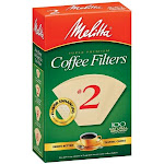 Melitta 622752 100 Count No. 2 Natural Brown Cone Coffee Filters