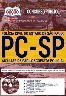 Apostila Concurso PC SP 2018 | AUXILIAR DE PAPILOSCOPISTA POLICIAL
