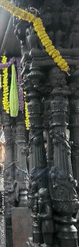 Carved Pillars of Venkatramana Temple - Karkala