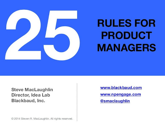 25 Rules for Product Managers