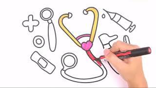 Menggambar Peralatan Dokter ฟรวดโอออนไลน ดทวออนไลน