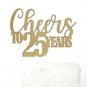 25th Anniversary Cake Toppers   Shop 25th Anniversary Cake