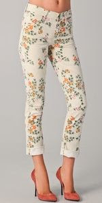 Citizens of Humanity Mandy Floral Roll Up Jeans