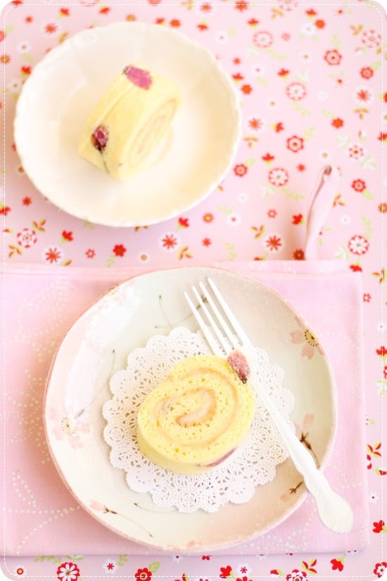 Sakura Cherry Blossom Roll Cake