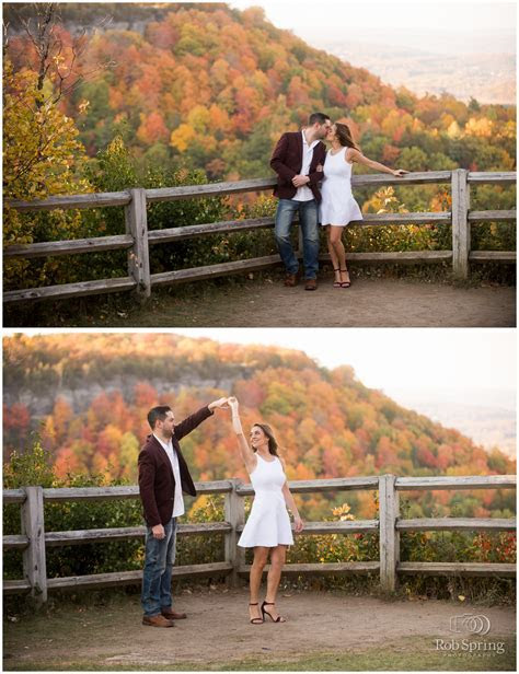 Ally and Rob's Thatcher State Park Engagement Session
