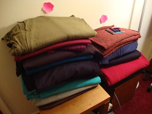 LA fabric left; SD fabric right