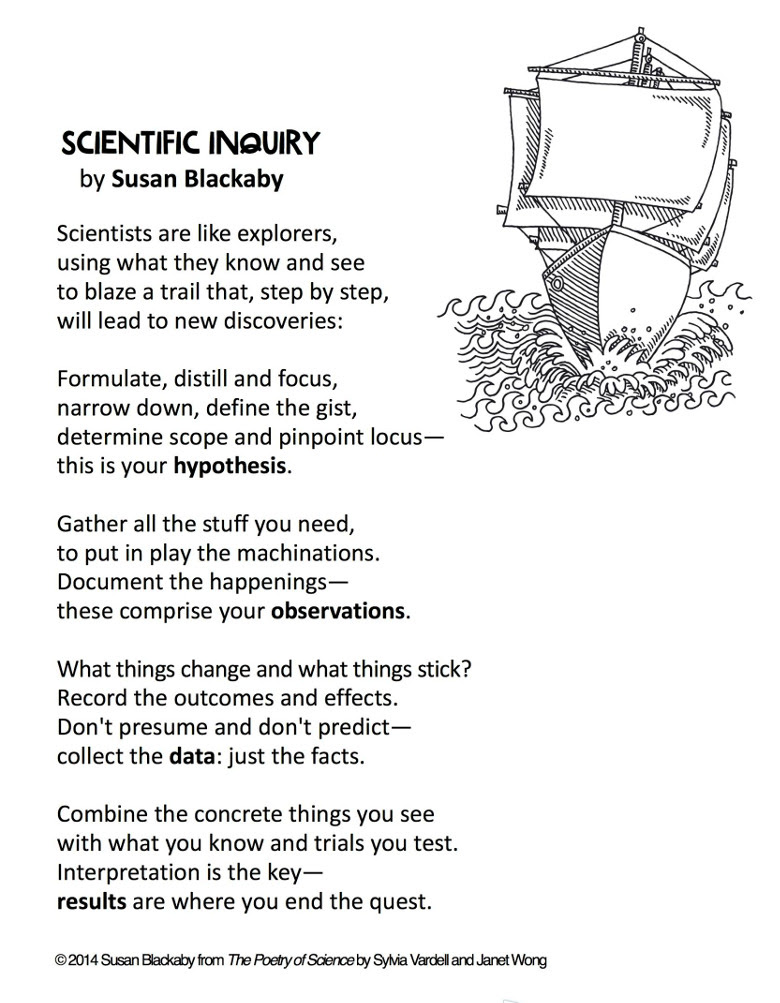 Need To Memorize Some Science Vocab Try Poetry