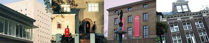 Secuencia de fachadas de diferentes sedes del IC