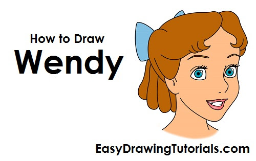 How To Draw Wendy Darling Peter Pan