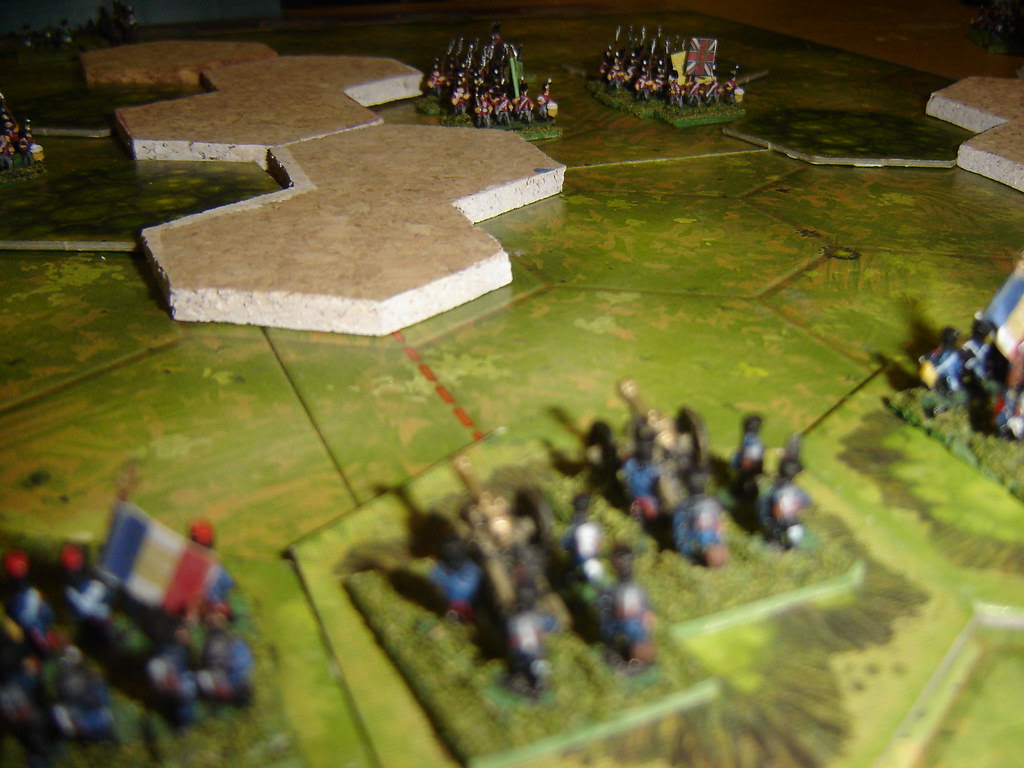 French artillery looks on as English advance
