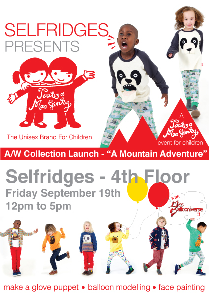 A Free Event For Children | Selfridges Presents Tootsa MacGinty