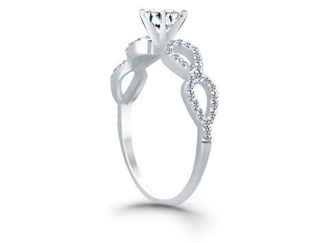 Double Infinity Diamond Engagement Ring Mounting in 14k