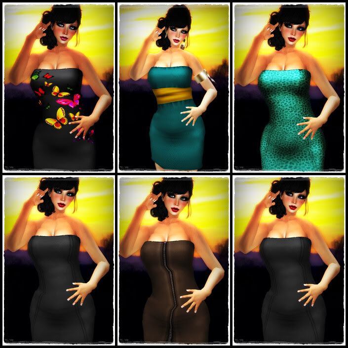 EM Trixie Skins + Tube Mesh Dress