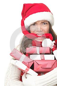 Christmas shopping stress