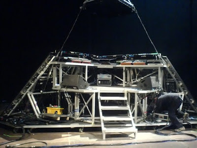 The inside of Daft Punk's pyramid