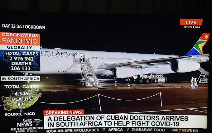 200 Cuban Doctors Land In South Africa To Fight Coronavirus (Photos)