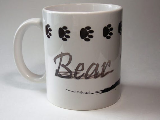 11oz Bear mug  coffee cup by MymugCo on Etsy