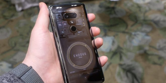 Live Images of the HTC Exodus 1 Blockchain Smartphone