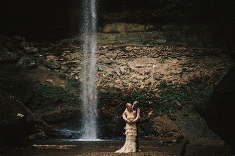 Brittany and Cameron's Rustic Yahoo Falls Wedding in Kentucky