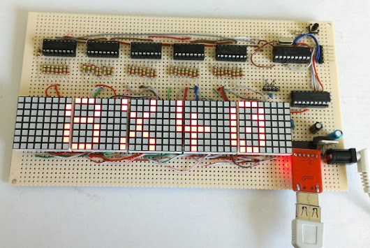 Making a 8×40 LED matrix marquee using shift registers :Embedded Lab