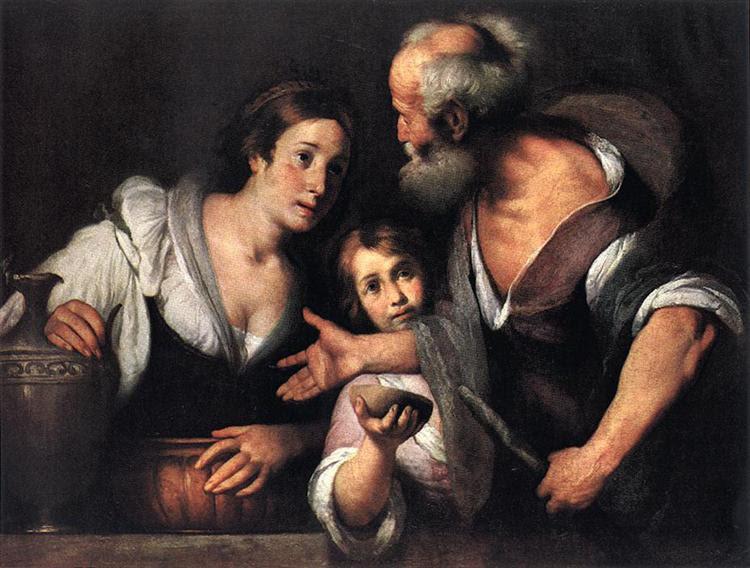Prophet Elijah and the Widow of Sarepta - Strozzi Bernardo