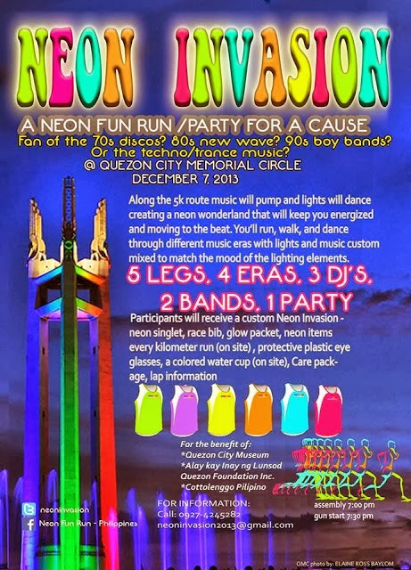 Neon Invasion Fun Run 2013 Map Poster