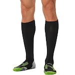 2XU Men's Compression Socks for Recovery Black / Grey