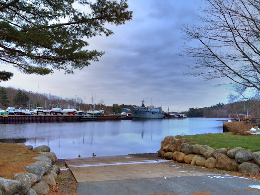 LaHave Sunrise — Cold blues and greys with a dusting of snow along...