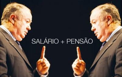Alberto João também acumula salário mais pensão todos os meses.