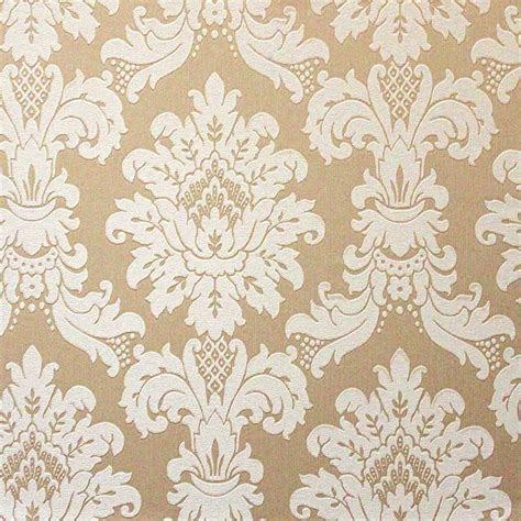 brown  cream damask wallpaper gallery