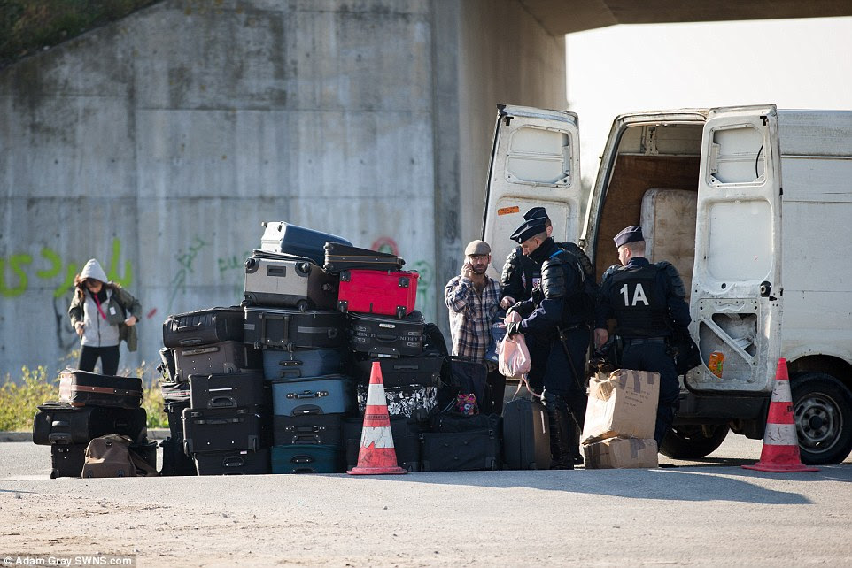 French police have been searching vehicles arriving at the camp looking for weapons