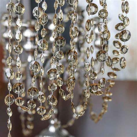 Champagne Acrylic Crystal Garland   Pearl Spools   Bead