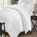 Kathy Ireland Essentials All Season Microfiber Down Comforter - Full/Queen White Solid