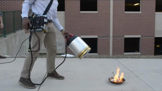 New Fire Extinguisher Puts Out Fire With Nothing But Sound