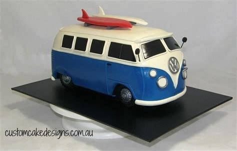 Old VW Kombi Car Cake by Custom Cake Designs   Cakes